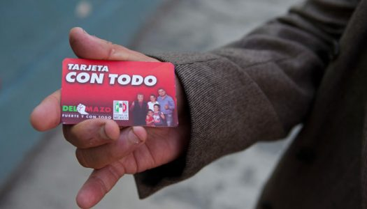 """INE exonera al PRI por usar tarjetas """"Con todo"""" en campaña de Del Mazo"""