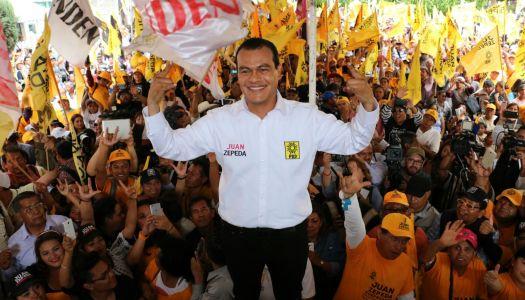 Juan Zepeda, el candidato del PRD que festejó cuando ganó el PRI