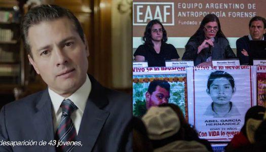 EPN defiende verdad histórica de los 43; forenses argentinos la rechazan