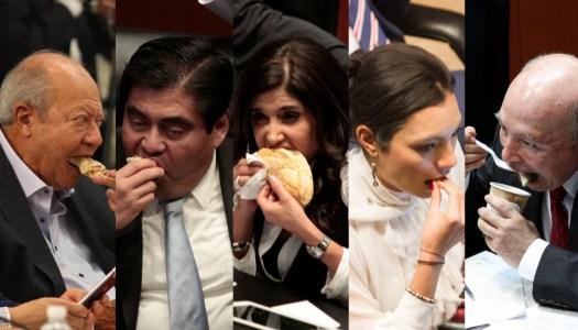 Mexicanos pagaron 132 millones de pesos para alimentar a ex senadores