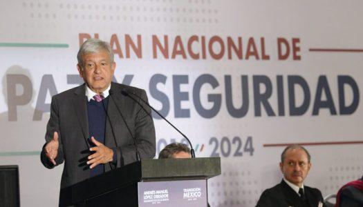 ¿En qué consiste el plan de paz y seguridad de AMLO?