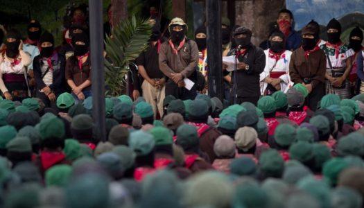 EZLN amenaza con enfrentar a AMLO por el Tren Maya