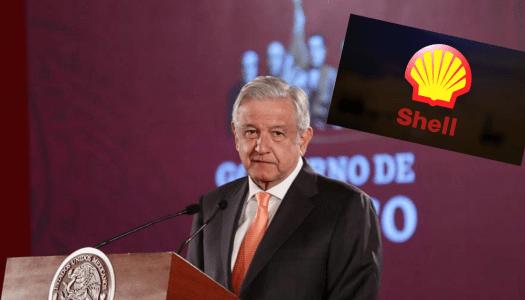 AMLO alerta que comprar combustible en gasolineras Shell sale más caro
