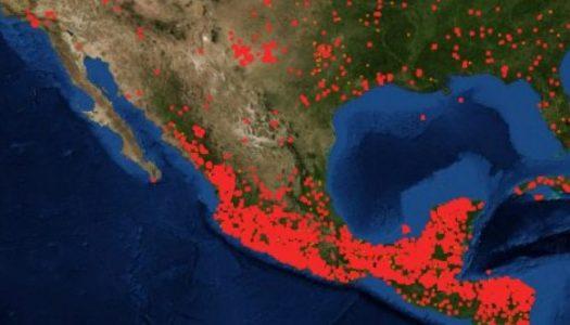 México en llamas: NASA registra desde el espacio los incendios forestales