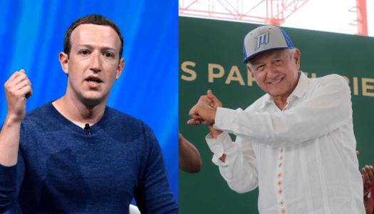 ¿Dueño de Facebook se suma a la 4T? AMLO le propone proyecto que rechazó Carlos Slim