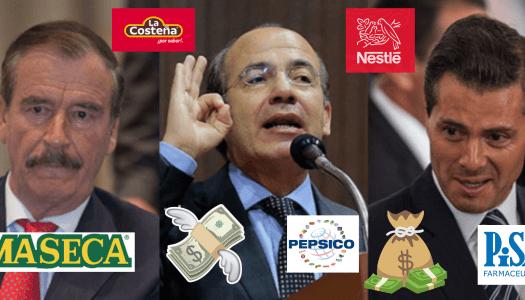 """Con Fox, Calderón y EPN, 52 empresas fueron las """"chiqueadas"""""""