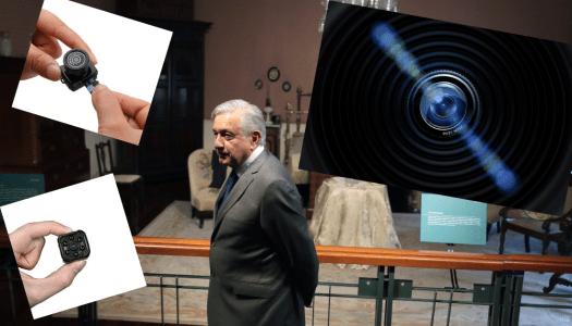 Espían al Presidente en Palacio: colocaron cámara sofisticada en salón de reuniones