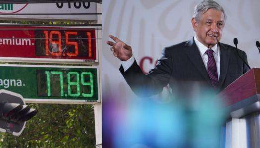 Precios de gasolina, luz y gas no aumentarán el próximo año: AMLO