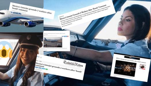 Llega caso de la piloto que pidió tirar bomba en el zócalo a prensa de EU