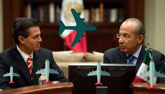 Calderón y Peña Nieto gastaron más de 100 mil MDP en aeronaves