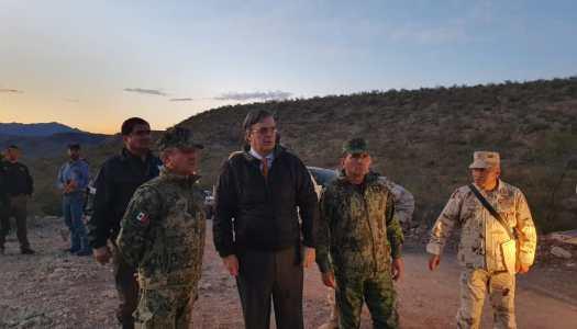 Marcelo Ebrard visita lugar donde fue la masacre a la familia LeBarón