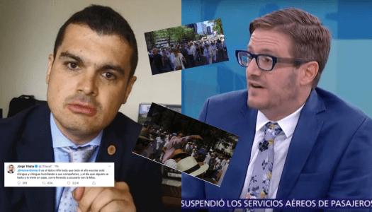 Panistas justifican violencia contra Hernán Gómez en marcha anti-AMLO