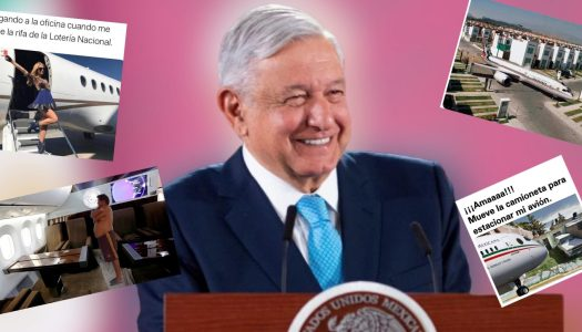 Entre risas, AMLO celebra memes sobre rifa de avión presidencial