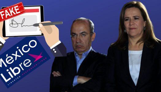 Detectan fraude en firmas de México Libre, el partido de Calderón y Zavala