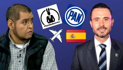 Alcalde panista se fue a España con su familia y hasta el Tumbaburros