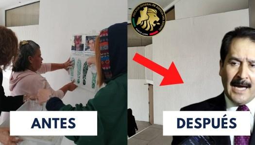 Fiscalía de Nuevo León borra a desaparecidos de sus muros