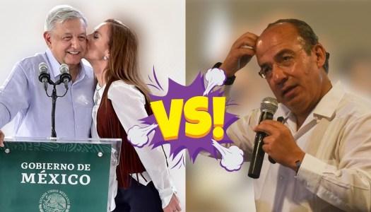 """AMLO y Beatriz tunden a Calderón; él bravuconea pero ya pide """"tregua"""""""