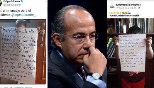 Felipe Calderón usa a niña para engañar a la gente y golpear a AMLO