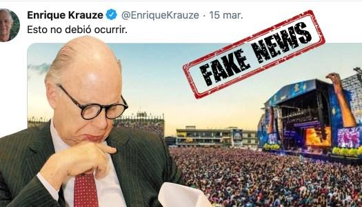 Krauze miente con foto falsa para atacar a AMLO por el coronavirus