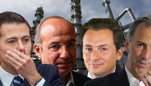 Calderón, EPN, Lozoya y Meade desfalcaron a Pemex con 4 mil mdp