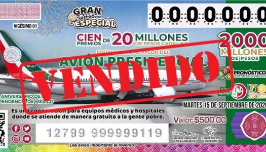 En menos de 24 horas se agotan boletos de la rifa del avión en Tampico