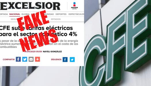 Excélsior inventa fake news y ni porque lo desmienten elimina la nota