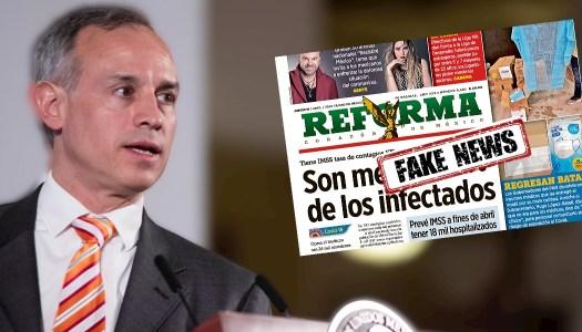 Reforma miente descaradamente y manipula palabras de López-Gatell