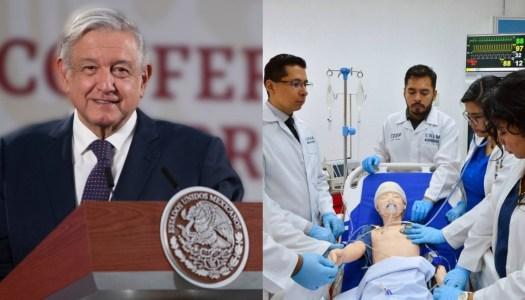 AMLO dará 30 mil becas a médicos que quieran estudiar en el extranjero