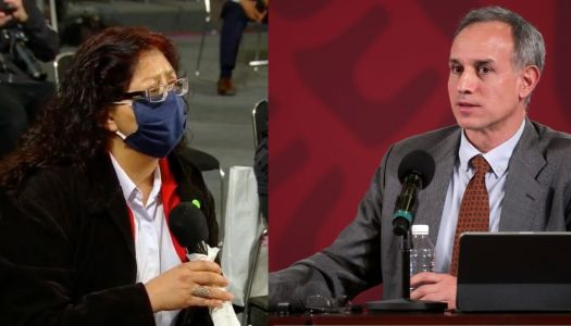 El Sol de México manda a reportera a agredir a López-Gatell