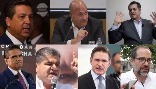 7 Gobernadores del PRIANRDMC arman frente contra AMLO