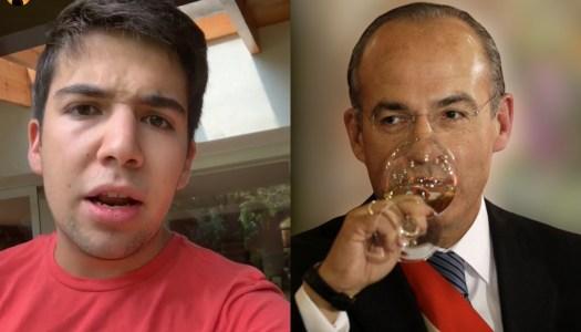 """Hijo de Calderón defiende a su papá y se lanza contra los """"chairos"""""""