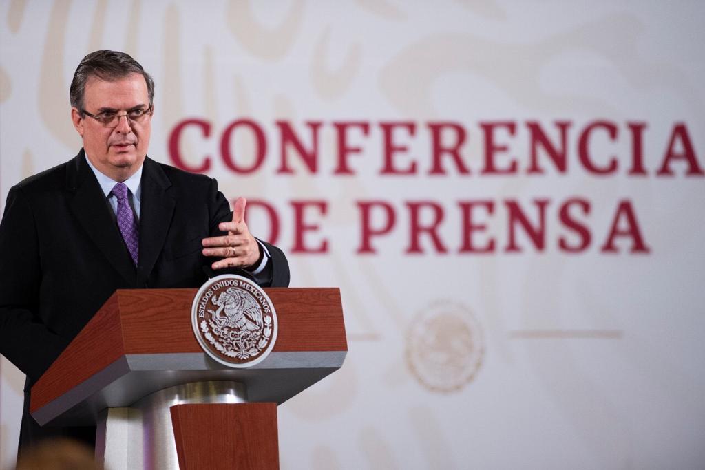 Marcelo Ebrard, informando sobre investigaciones para encontrar la vacuna contra covid-19