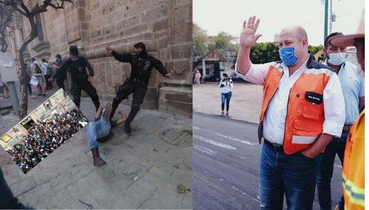"""Alfaro afirma que manifestantes por caso Giovanni """"dañan a Jalisco"""""""