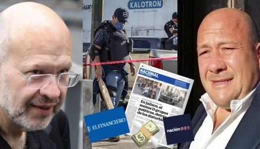 """El Financiero y Riva Palacio """"limpian"""" represión de Alfaro en Jalisco"""