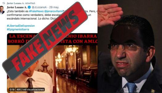 Lanza Javier Lozano otra fake news contra AMLO