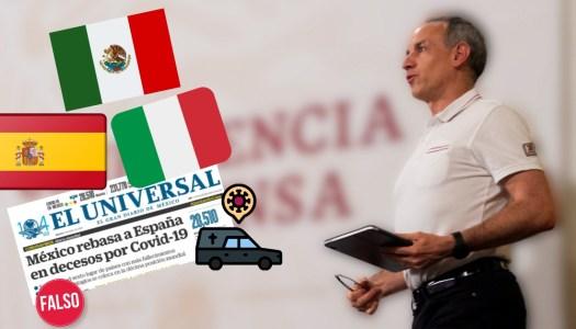 Medios mienten: pandemia ha sido más fuerte en Italia y España que en México