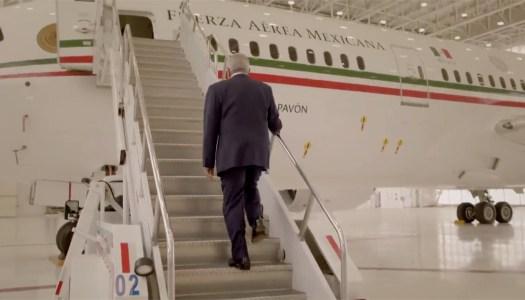 AMLO se sube al lujoso avión presidencial… para promocionar rifa