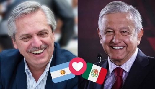 El presidente de Argentina, conmovido, elogia y le agradece a AMLO