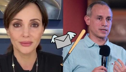 Lilly Téllez enfurece; le envió carta a López-Gatell y él la bateó