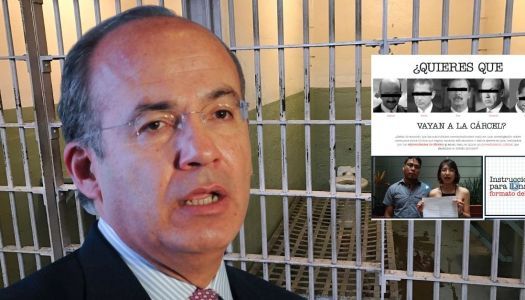Desesperado, Calderón se lanza contra quienes promueven juicio a expresidentes