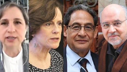 ¿Bajo rating? Aristegui dice adiós a la mesa de Dresser, Aguayo y Meyer