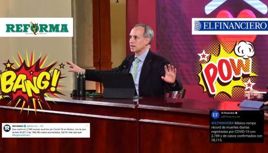 López-Gatell exhibe mentiras de El Financiero y Reforma