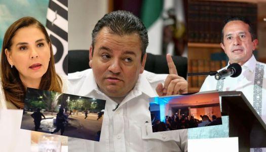 ¿Quién ordenó que la policía de Cancún saliera a disparar?
