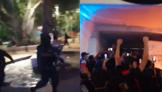 Reprimen a balazos marcha en Cancún que exigía justicia por feminicidio