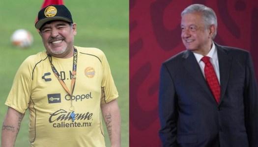 El día que Maradona elogió a AMLO por derrotar al PRIAN