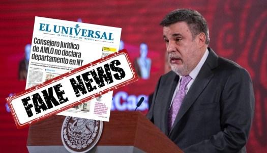 El Universal ataca con noticia falsa a consejero de AMLO