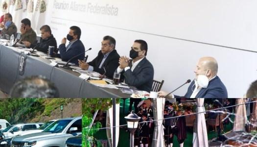 Gobernadores antiAMLO hacen megafiesta con 500 invitados en plena pandemia