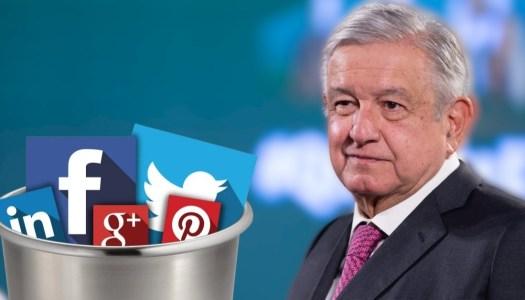 AMLO propone crear red social ante censura en Facebook y Twitter