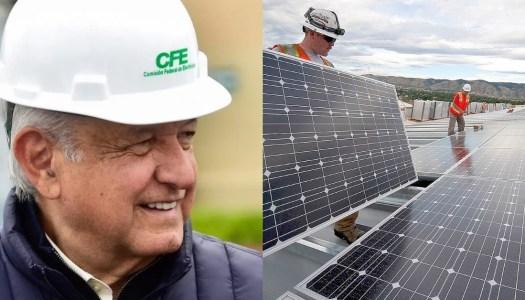 AMLO tiene en la mira un millonario plan para generar energía solar en la CFE