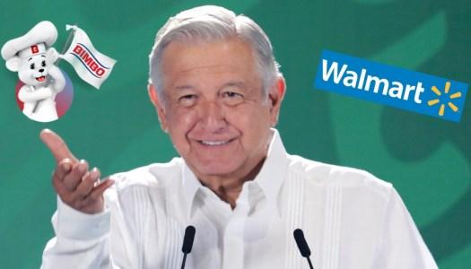 AMLO: Bimbo y Walmart no tienen vergüenza al ampararse contra la Ley Eléctrica